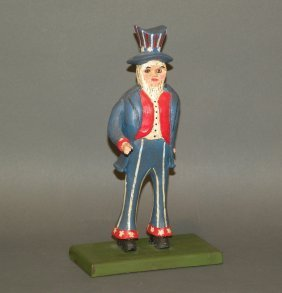 Strawser Uncle Sam Carving