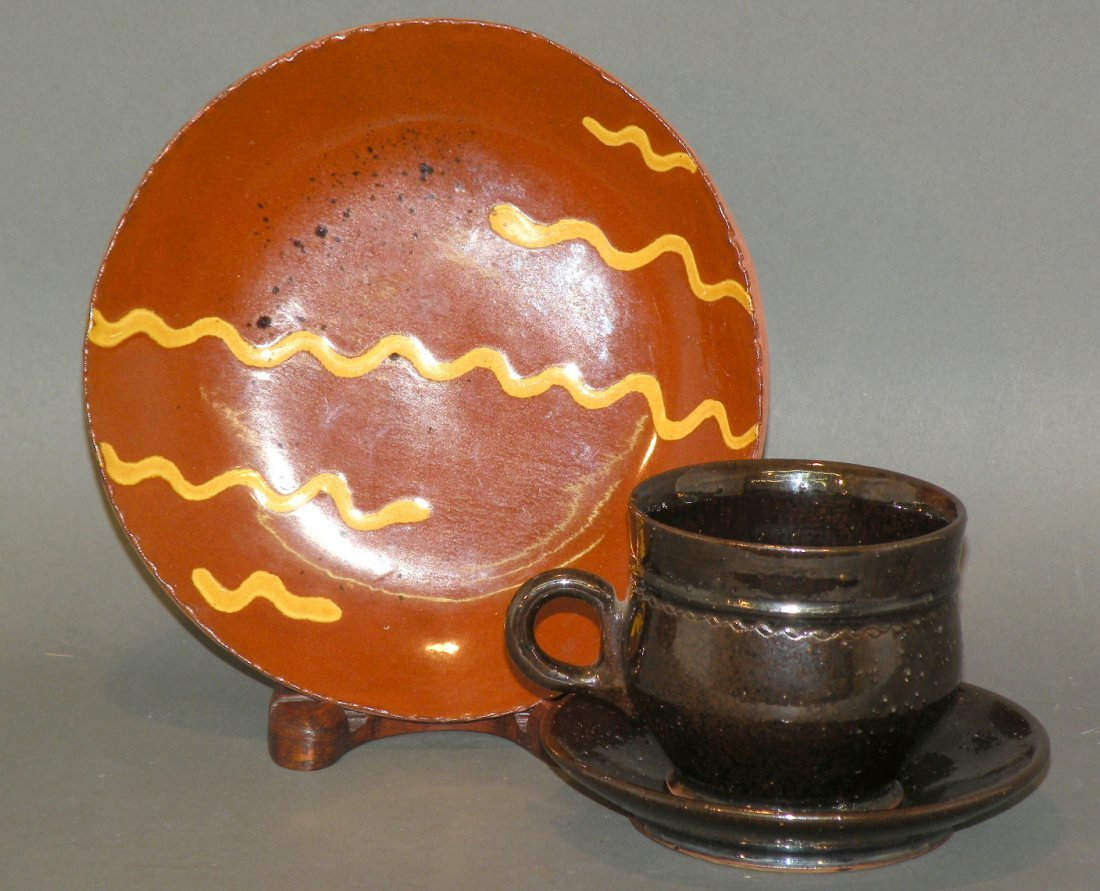 39: 3 pieces of redware