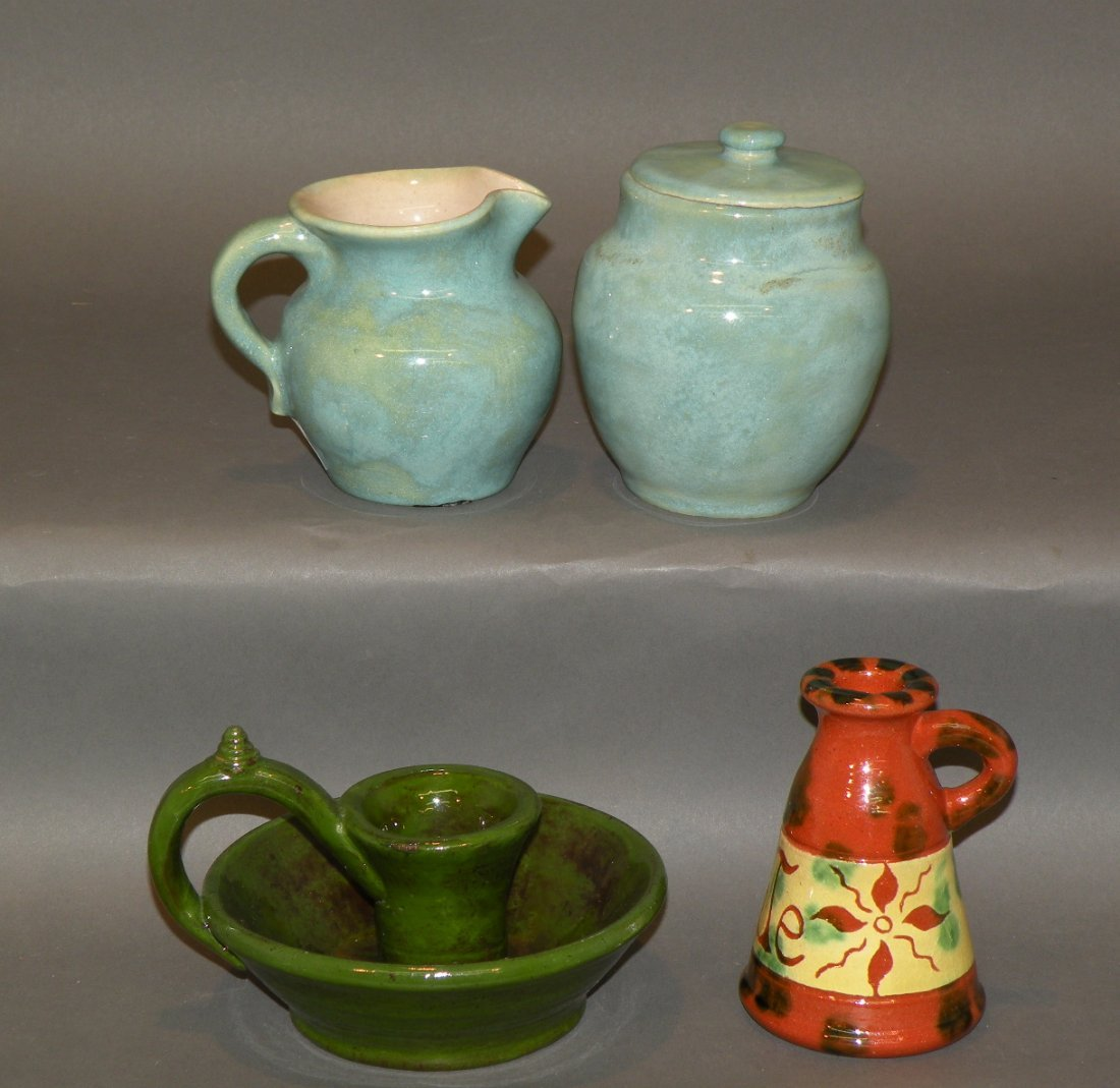 42: 4 pieces earthenware pottery