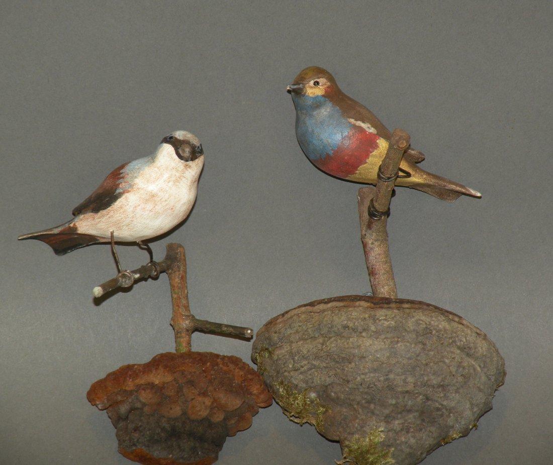 73: 2 PA folk art bird carvings