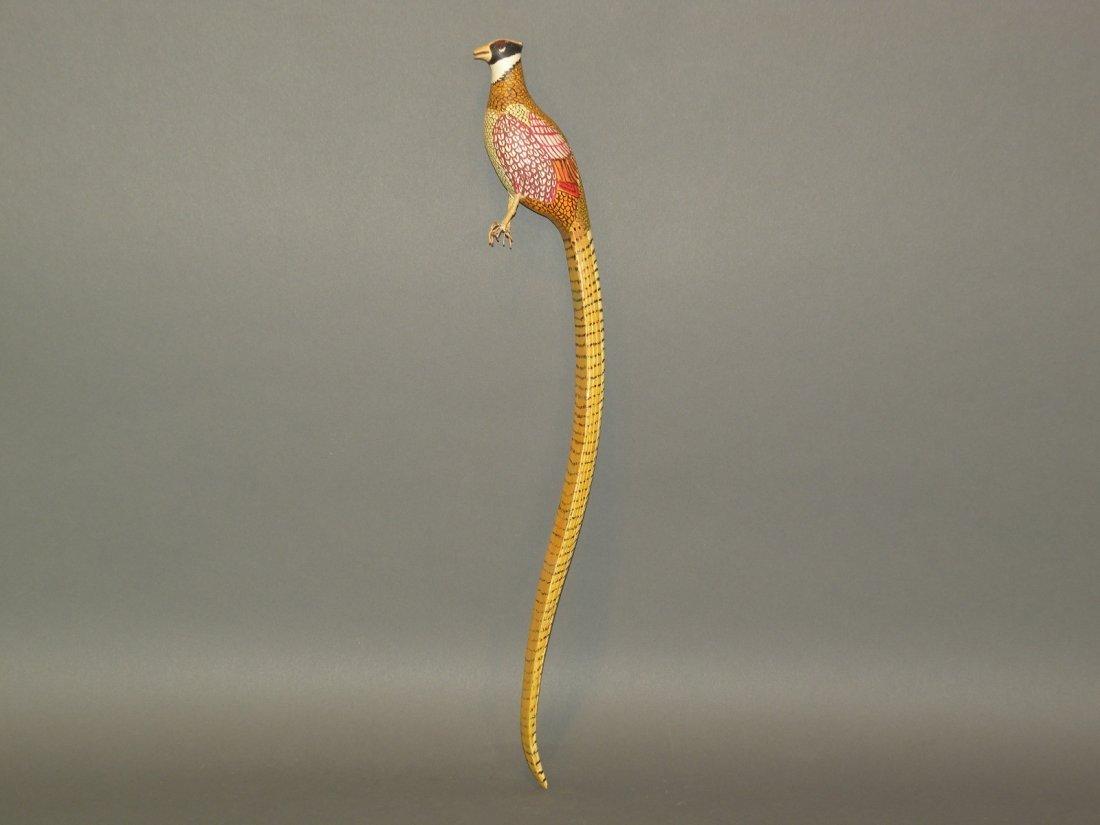 80: Golden pheasant carving