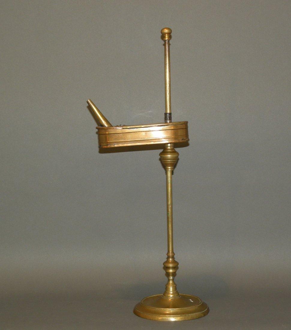 145: Brass adjustable lamp