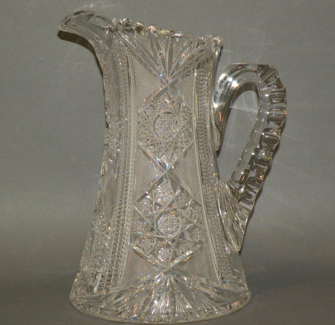 163: Brilliant cut glass pitcher