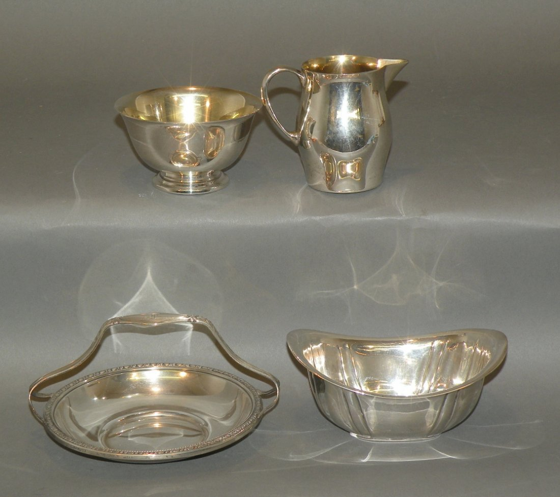 170: 4 pieces of sterling silver