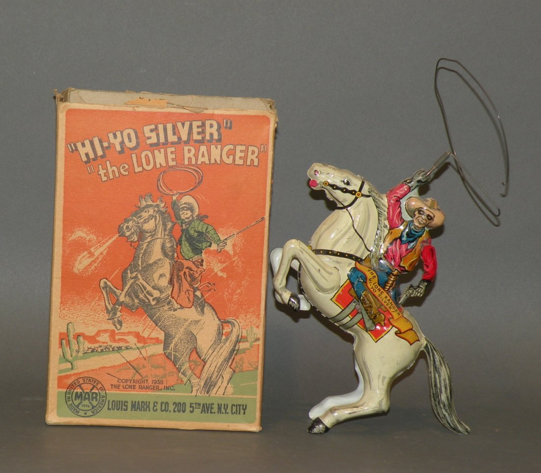 330: Marx Lone Ranger mechanical toy with box