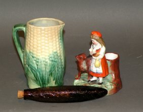 3 Pieces Of Earthenware