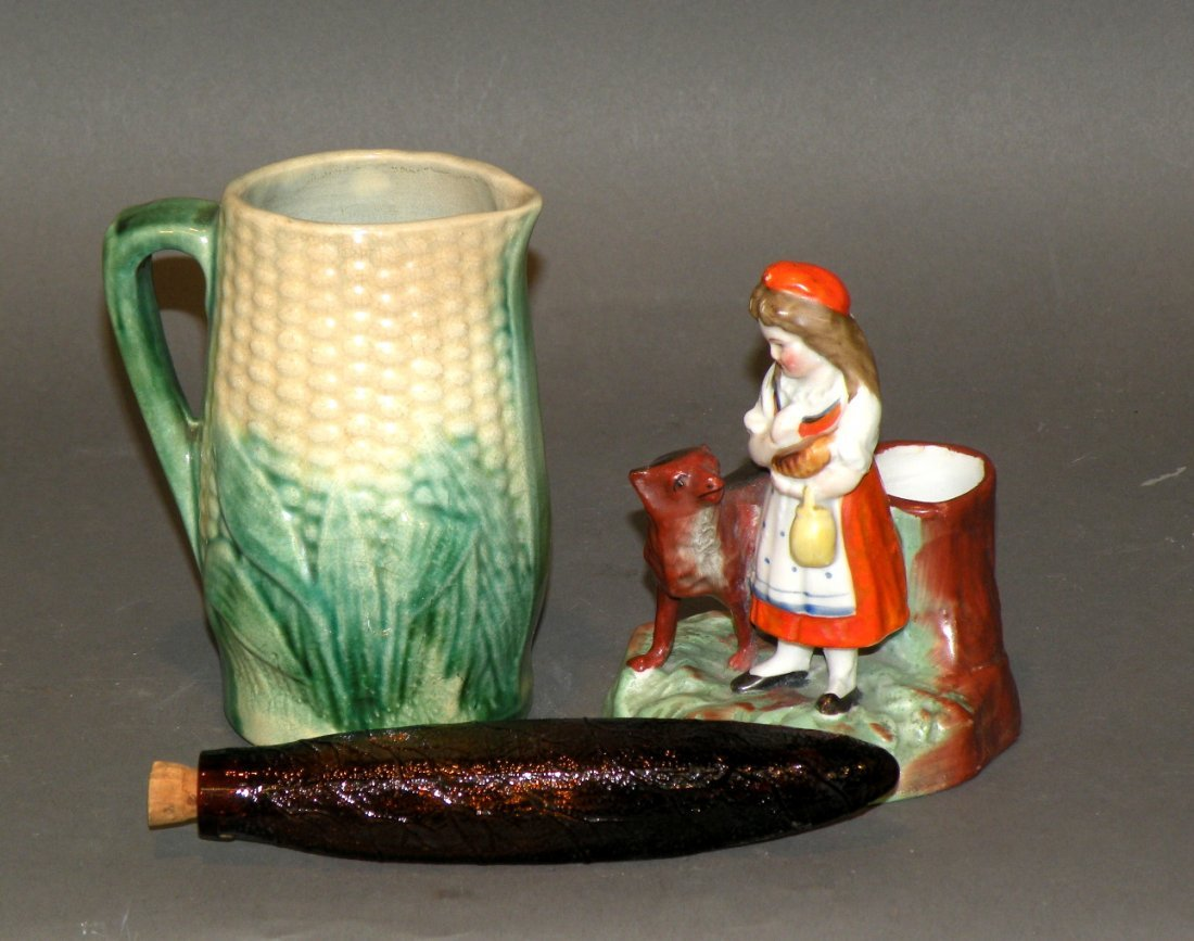 398: 3 pieces of earthenware
