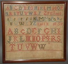 Framed Alphabet Sampler