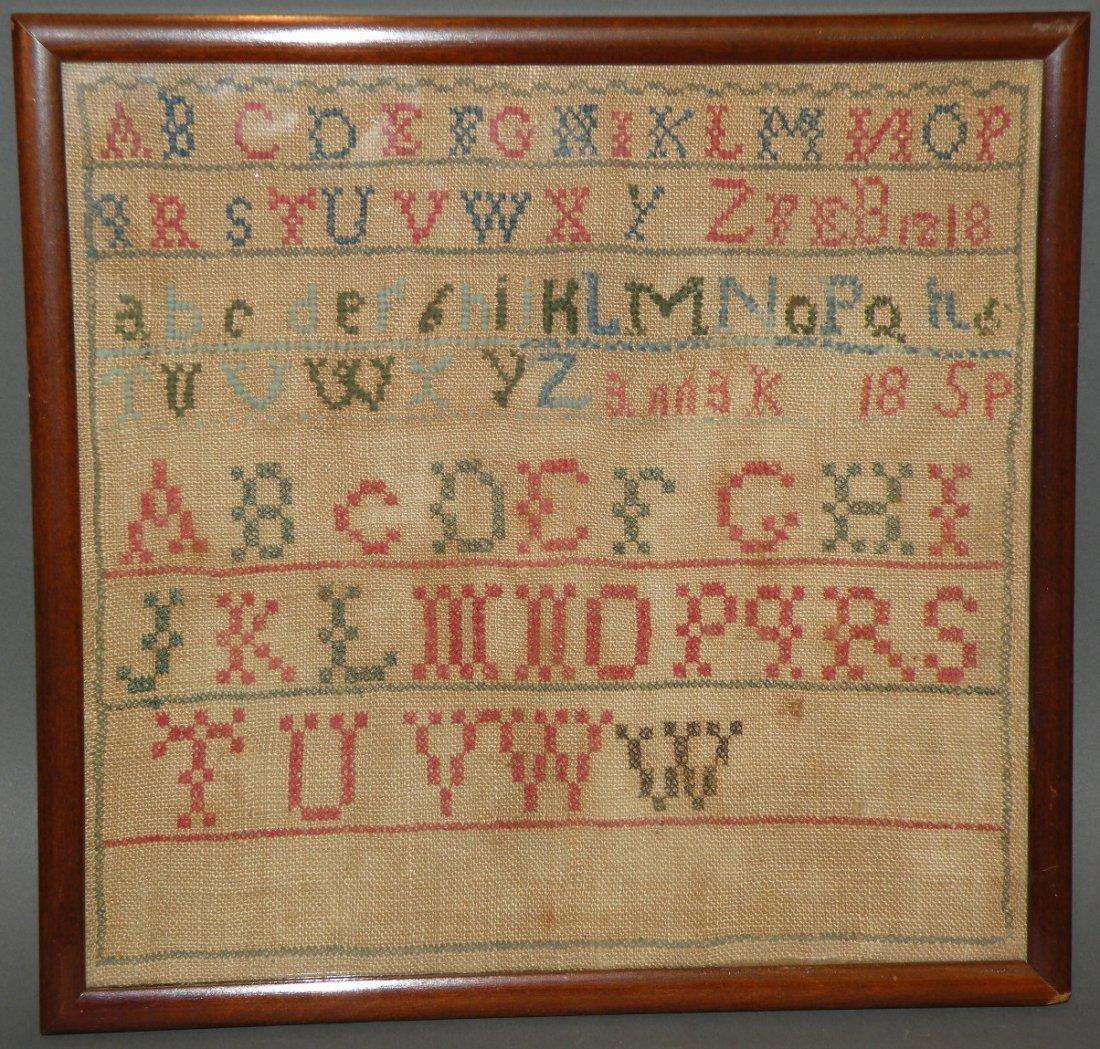 401: Framed alphabet sampler