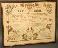 426 Bauman printed Ephrata Taufschein