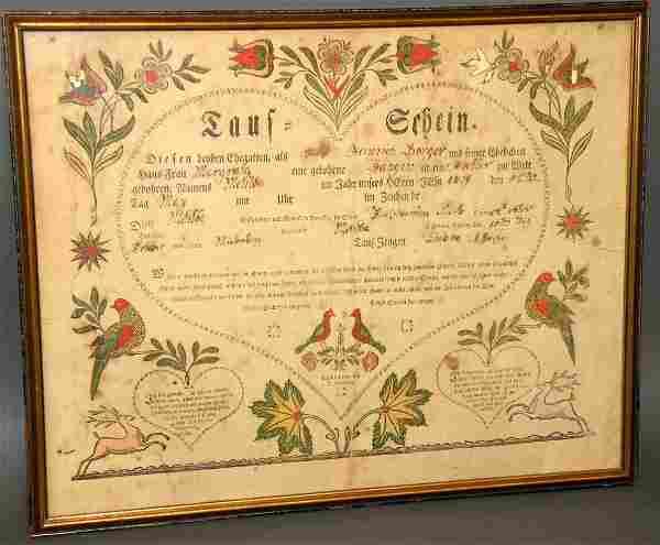 Bauman printed Ephrata Taufschein