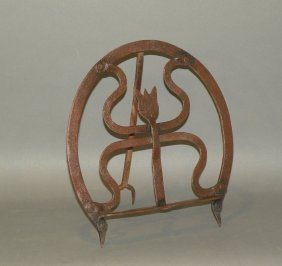 Wrought Iron Tulip Design Fire Trivet