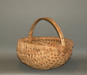 Oak Splint Gathering Basket