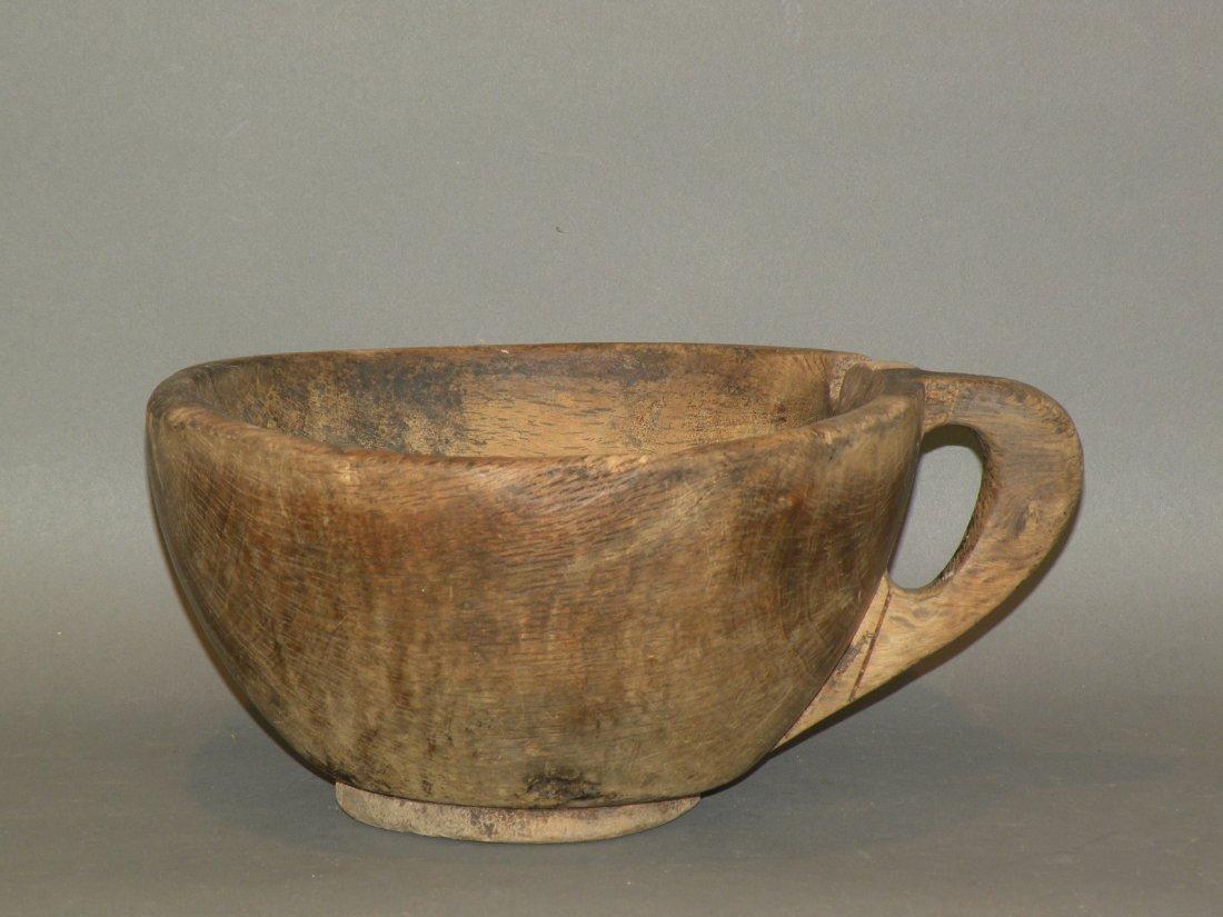 473: Burl handled bowl