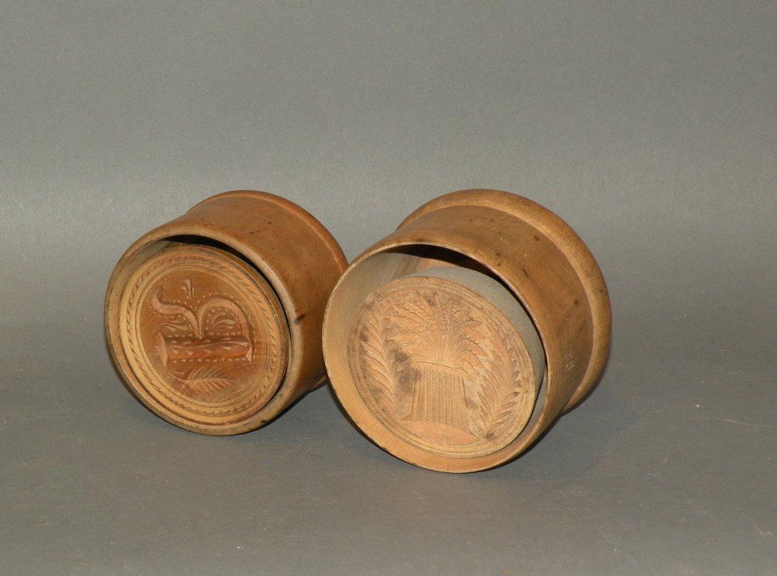 475: 2 wooden butter prints