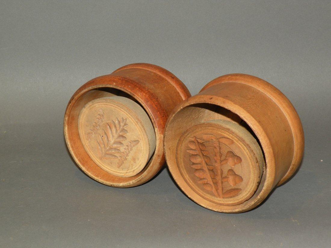 476: 2 wooden butter prints