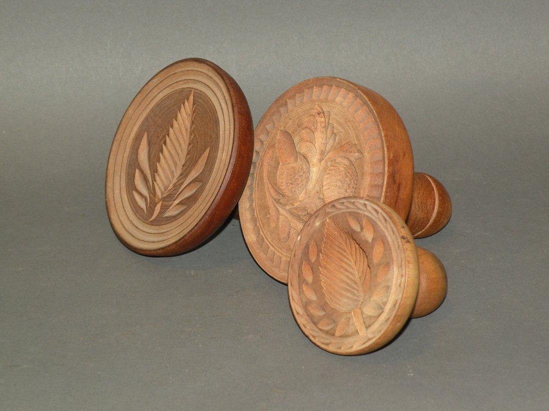 479: 3 wooden butter prints