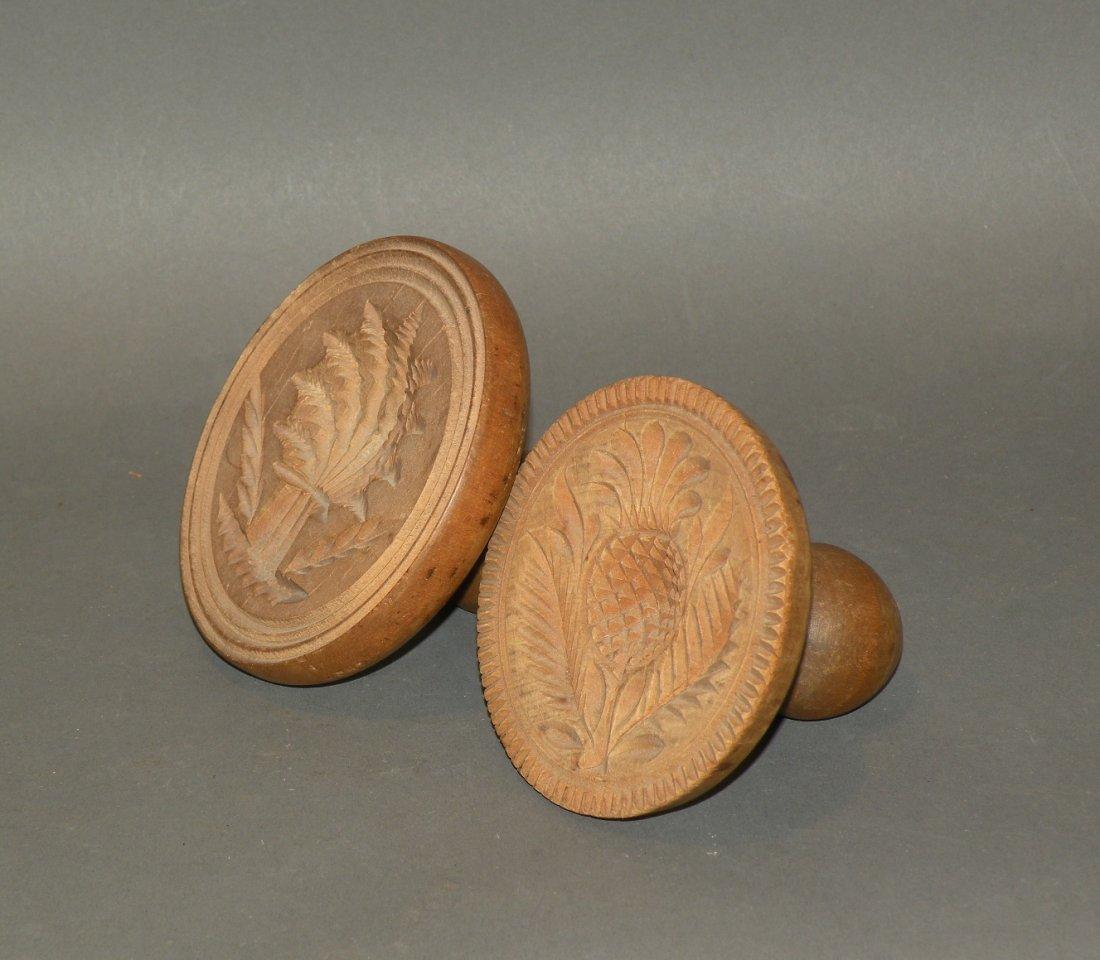 480: 2 wooden butter prints