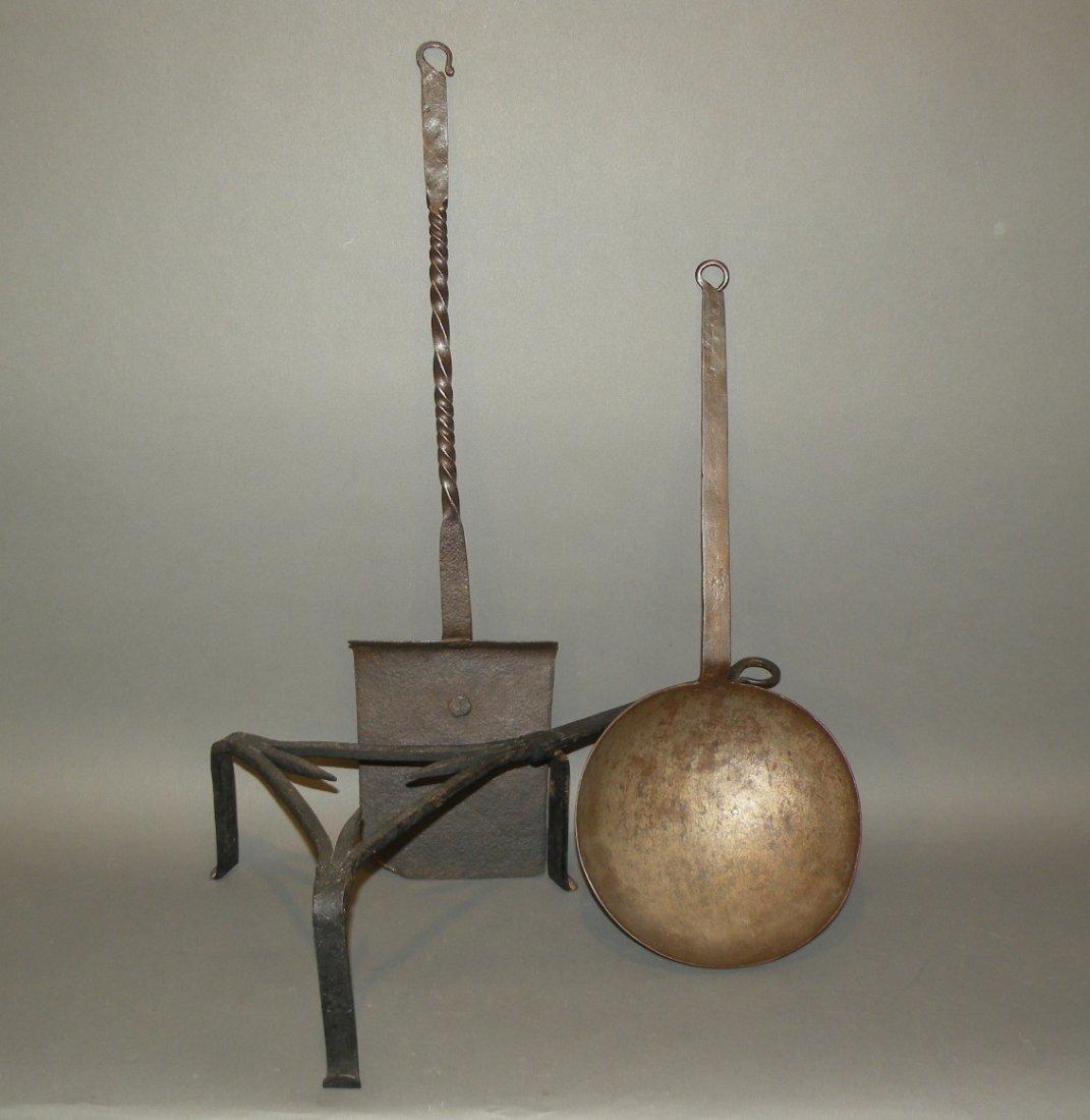 525: 3 wrought iron pieces