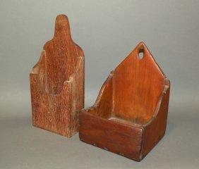 2 Wooden Hanging Wall Pockets