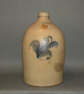 Ballard 3 Gallon Cobalt Decorated Stoneware Jug