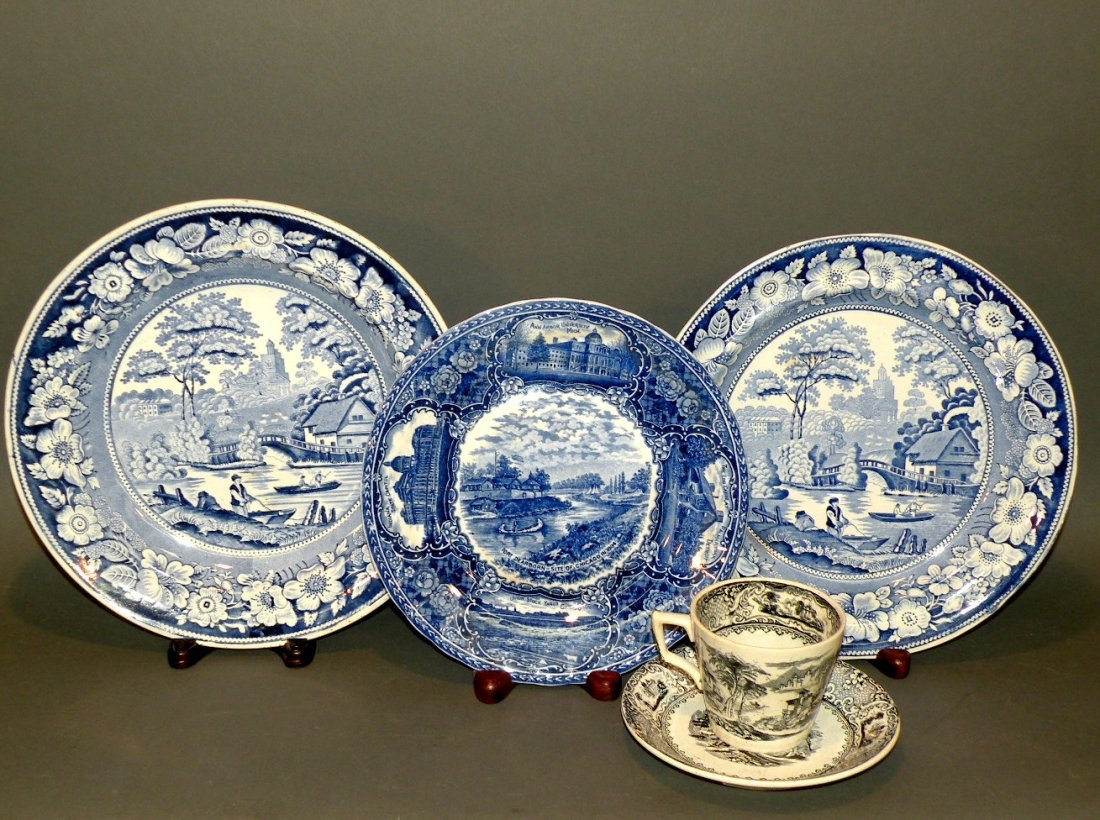 549: 4 pieces of transfer china