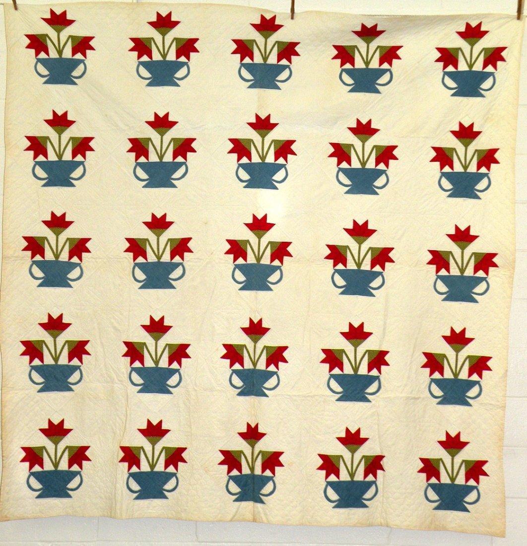 556: Flower basket quilt