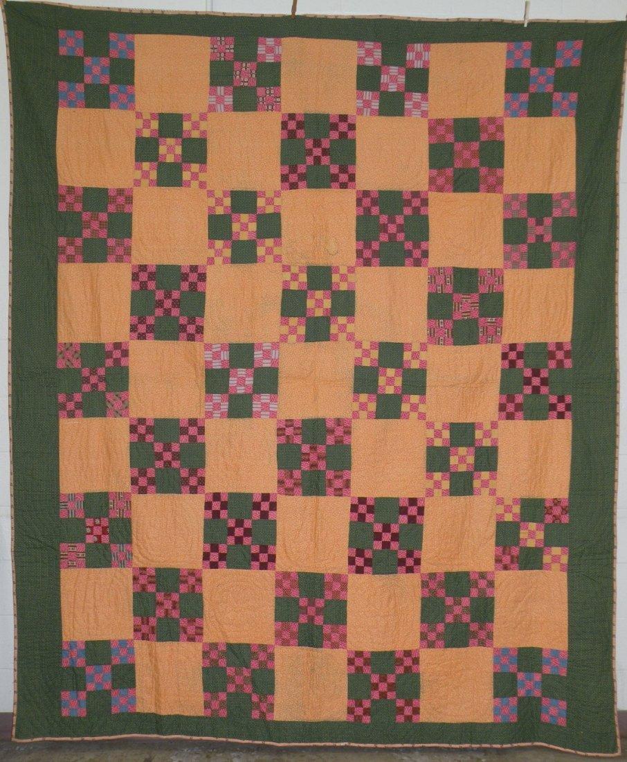 561: Double nine patch block pattern quilt