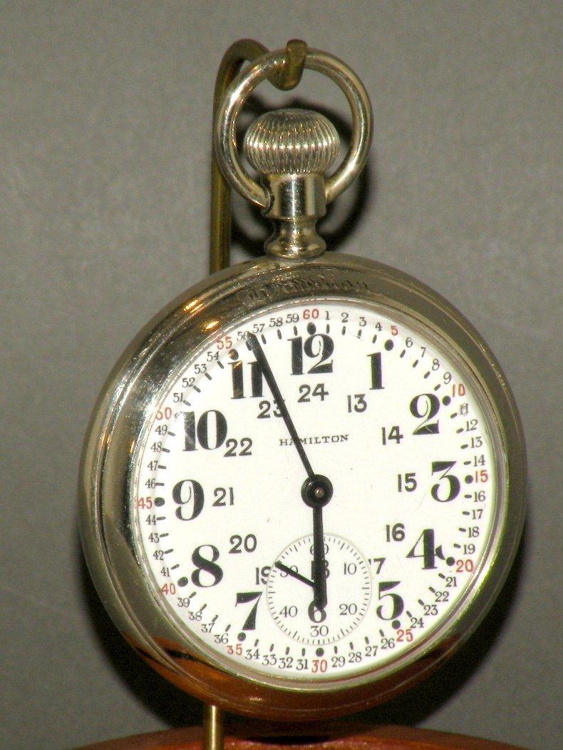 627: Hamilton 21 jewel pocket watch
