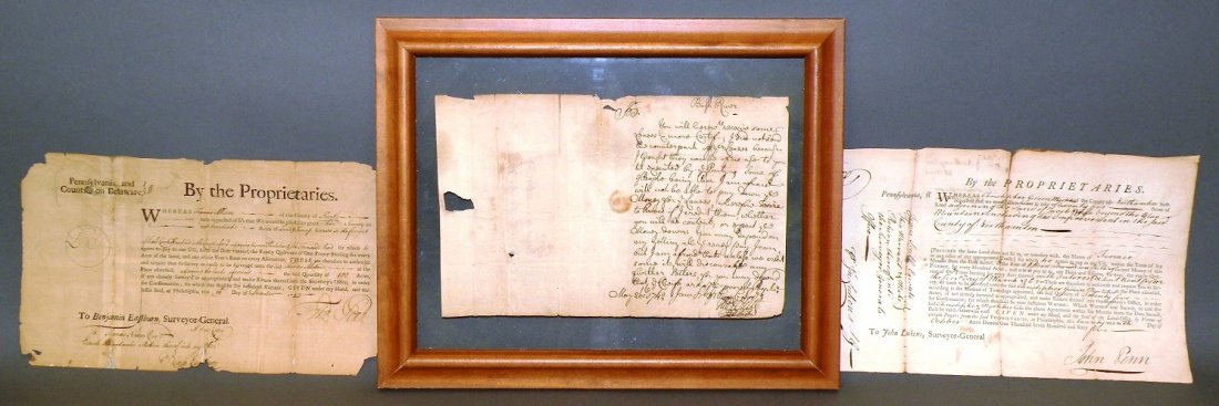 3 18th century documents