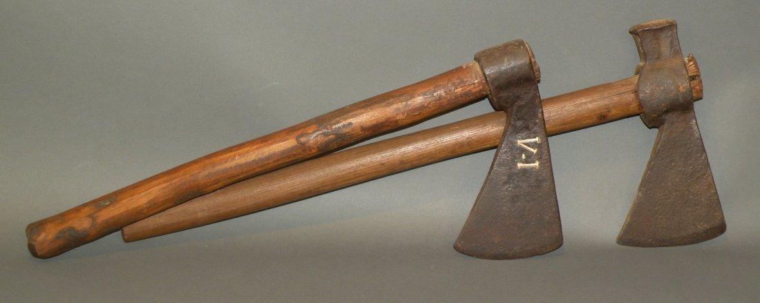2 18th century trade axes