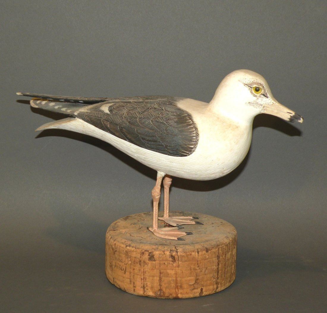 Capt. Gray seagull carving