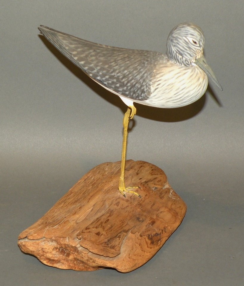 Capt. Gray shorebird carving