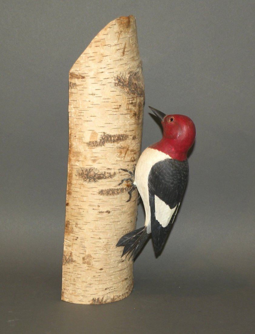 Capt. Gray woodpecker carving