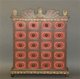 Joseph Lehn 20 drawer seed chest