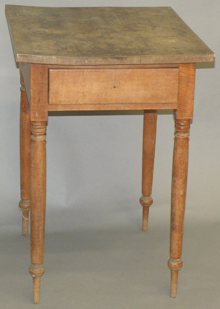 1: Snow Hill maple one drawer stand