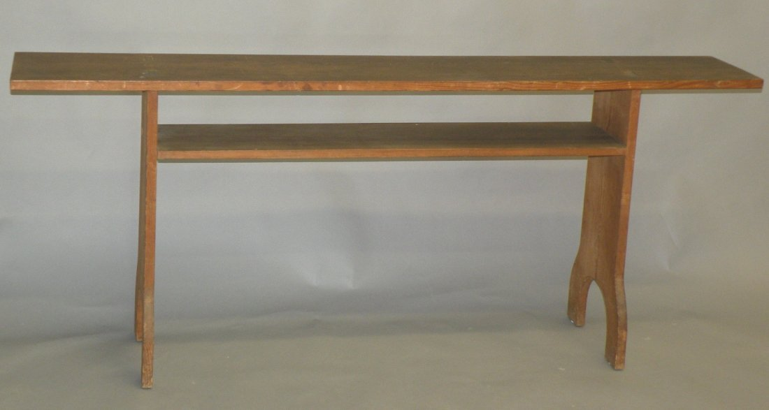 3: Snow Hill mortised hymnal bench