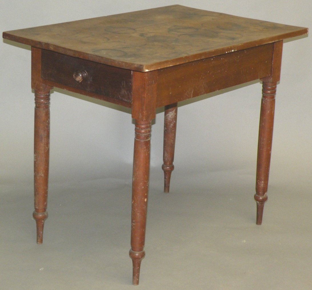 4: Snow Hill unusual one drawer table