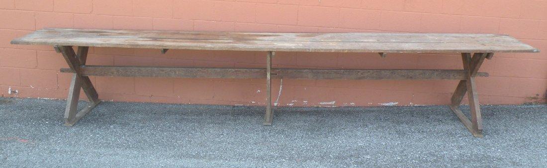 6: Snow Hill sawbuck communal table
