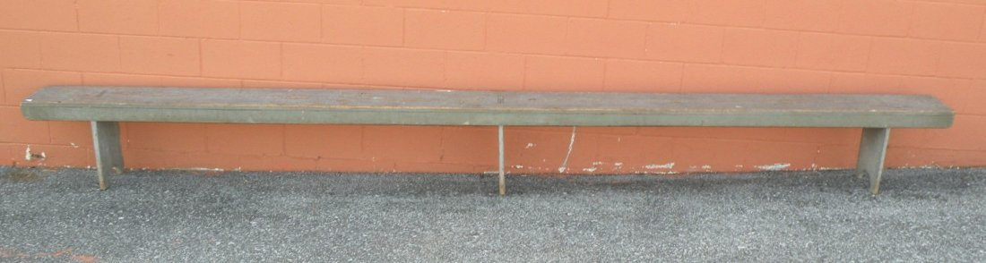 8: Snow Hill blue painted bench
