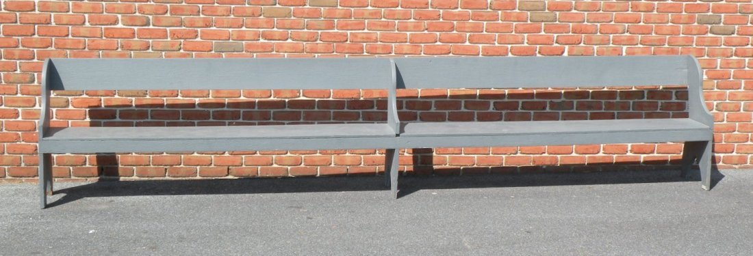12: Snow Hill gray painted bench
