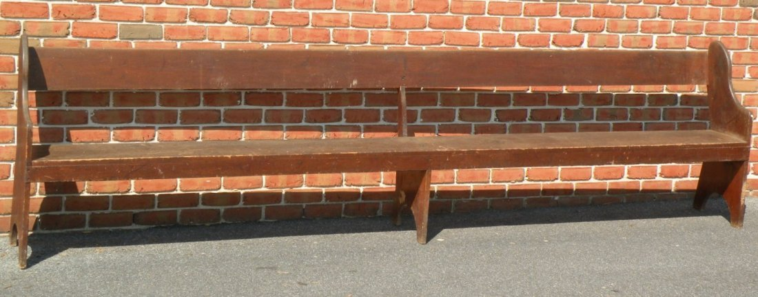 14: Snow Hill meetinghouse bench