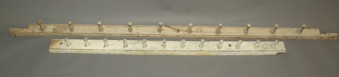 22: 2 Snow Hill painted peg rails