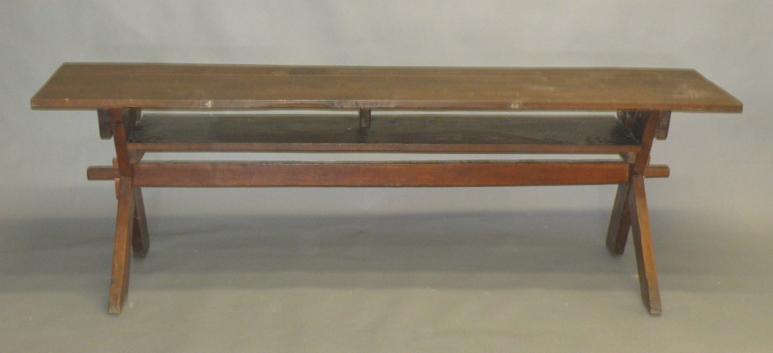 26: Snow Hill sawbuck meetinghouse table