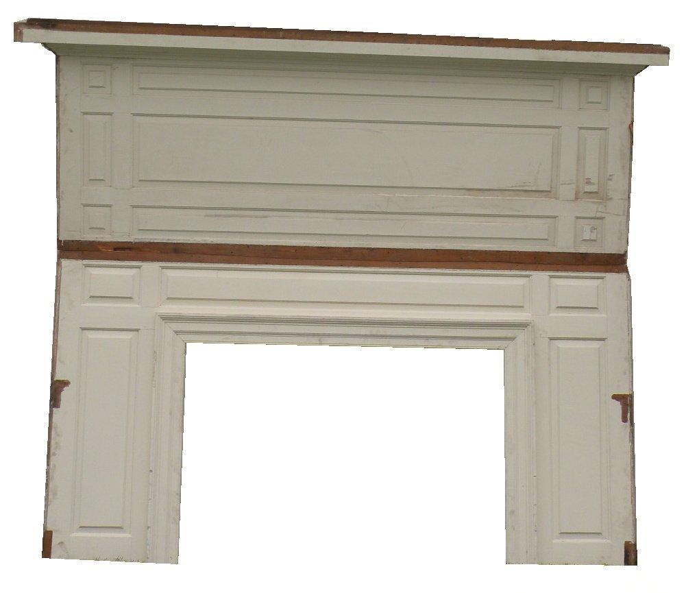 27: White fireplace mantel