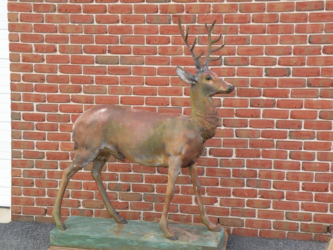 35: J.W. Fiske cast iron deer