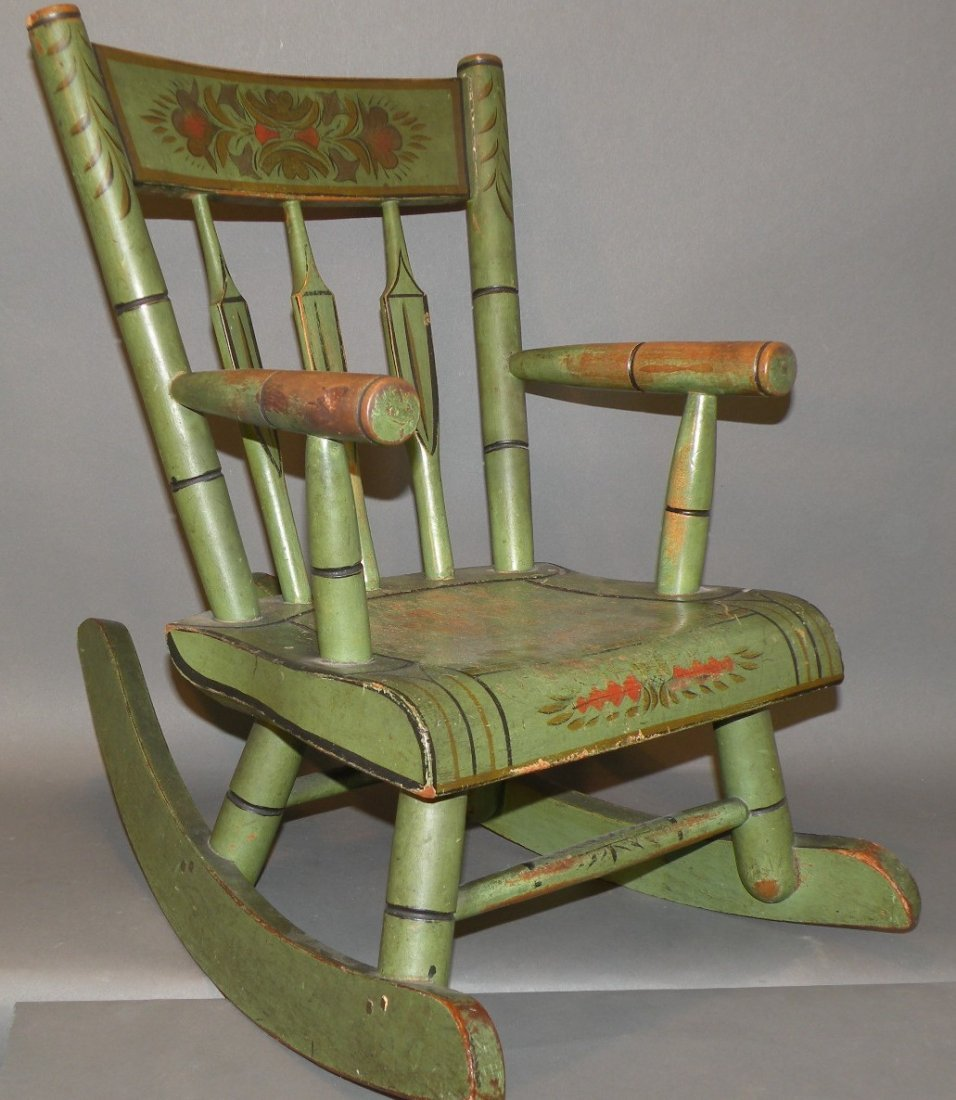 252: Decorated child's rocker