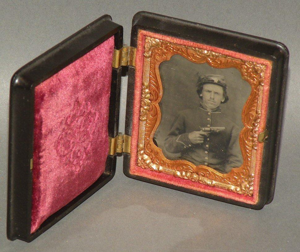 341: Tin-type photo of Union soldier