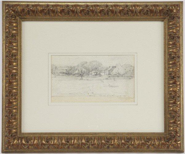 """3: Julian Onderdonk (1882-1922), """"Early Sketch"""" 1899"""