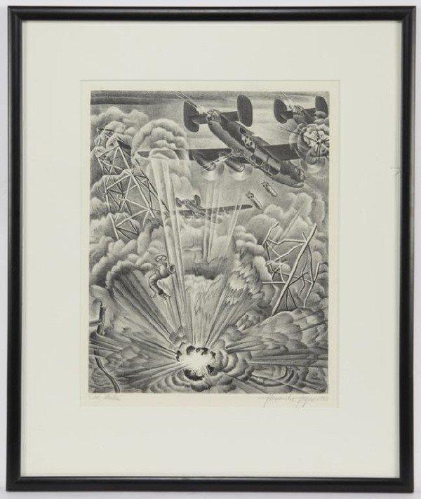 "9: Alexandre Hogue (1889-1994), ""Oil Strike"" 1943"